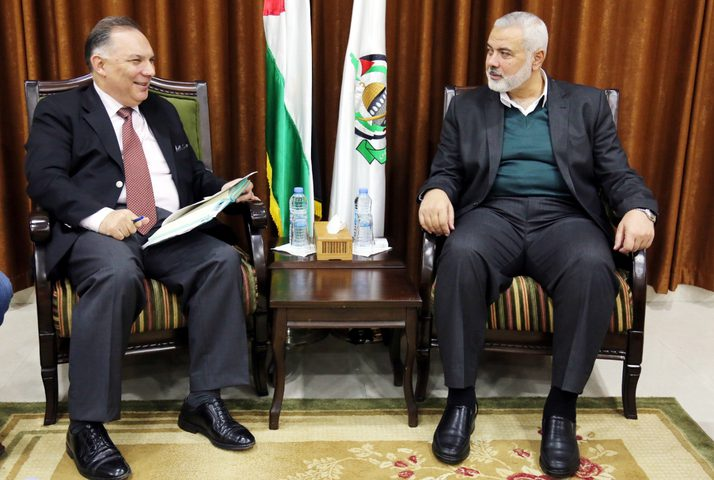 هنية يبحث مع السفير التركي إعلان الادارة الأميريكة بشأن القدس