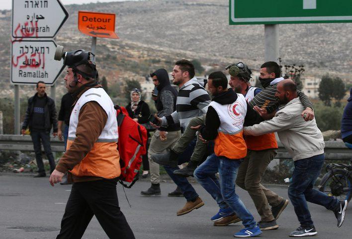 18 إصابة خلال مواجهات مع الاحتلال في قلقيلية