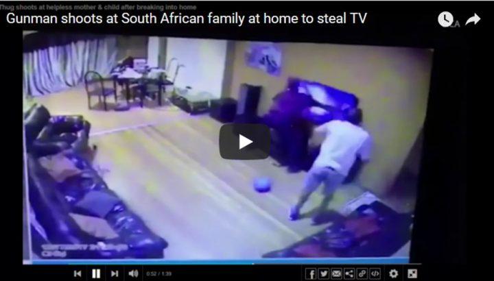 فيديو.. رب أسرة يضحي بحياته لإنقاذ زوجته وابنته من سطو مسلح
