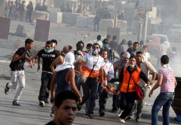 اصابة شاب بعيار ناري في مواجهات مع الاحتلال جنوب بيت لحم