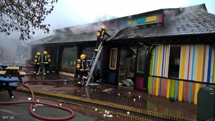 حريق بحديقة الحيوانات في لندن
