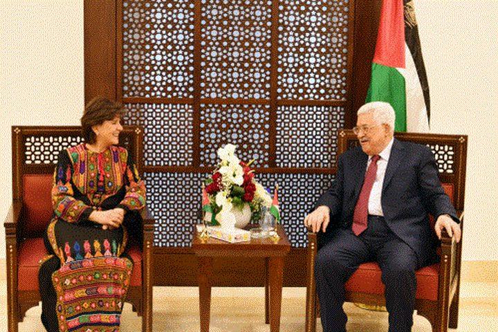 الرئيس يستقبل وزيرة السياحة والآثار الأردنية