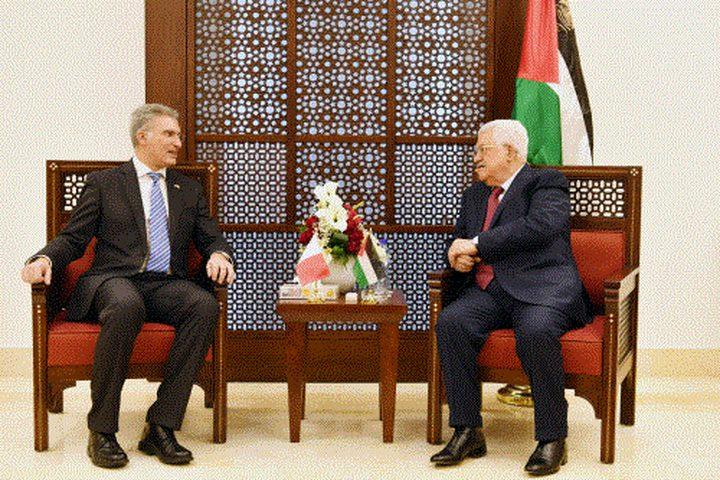 الرئيس يستقبل وزير الخارجية وتطوير الاستثمار المالطي
