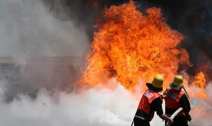 اندلاع حريق بمنزل في نابلس