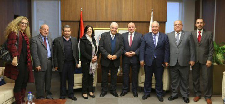 بحث دعم القطاع المصرفي للصندوق الفلسطيني للتشغيل