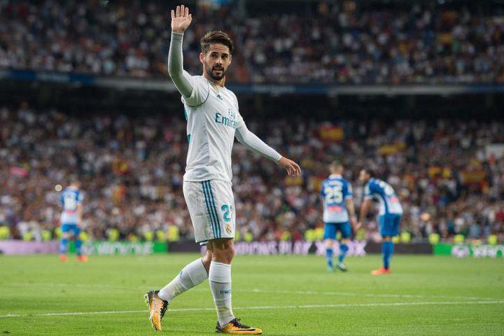 إحصائية مثيرة لإيسكو مع ريال مدريد
