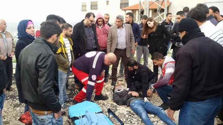 بالصور: إصابة مواطن بحادث سير مروع في نابلس
