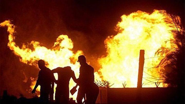 بالفيديو: اصابات في صفوف الاحتلال اثر حريق بقاعدة عسكرية
