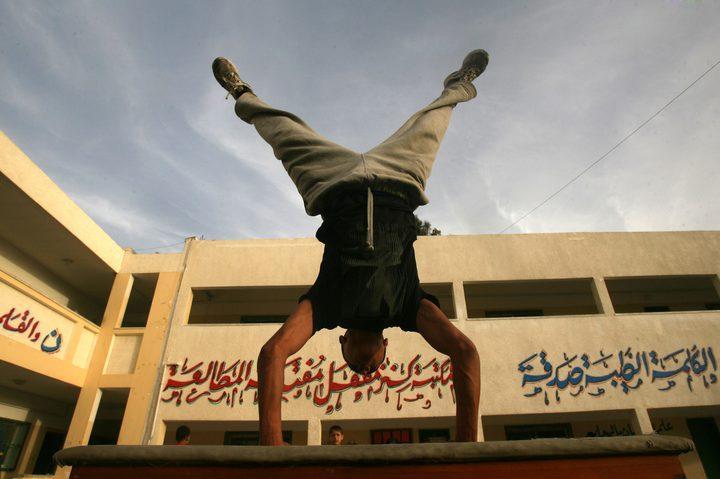 بلدية الخليل تمثل الاتحاد الفلسطيني للجمباز في مصر