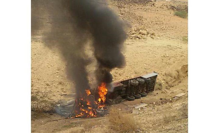 وفاة رجل أعمال وإصابة ثلاثة مواطنين باحتراق شاحنة ومركبتين في الأردن