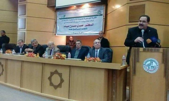 صيدم يعلن انتهاء أزمة الكلية الجامعية في خان يونس
