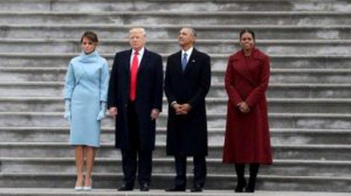 استطلاع: الزوجان أوباما يتفوقان على ترامب وعقيلته