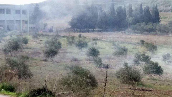 تحديث: مستوطنون يهاجمون مدرسة القرية ...مواجهات في بورين (صور -فيديو)