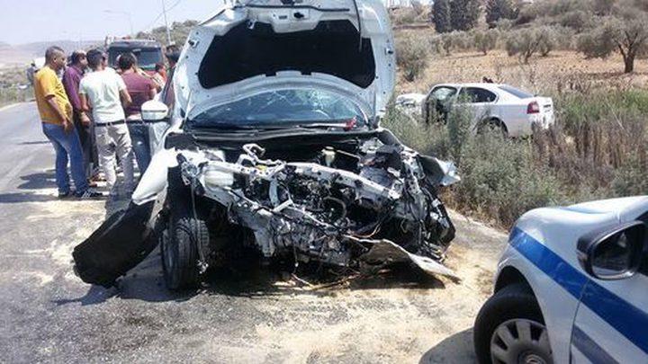 حصيلة الأسبوع الماضي...88 إصابة في 178 حادث سير بالضفة