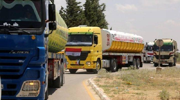 وصول 8 شاحنات محملة بالوقود المصري لغزة