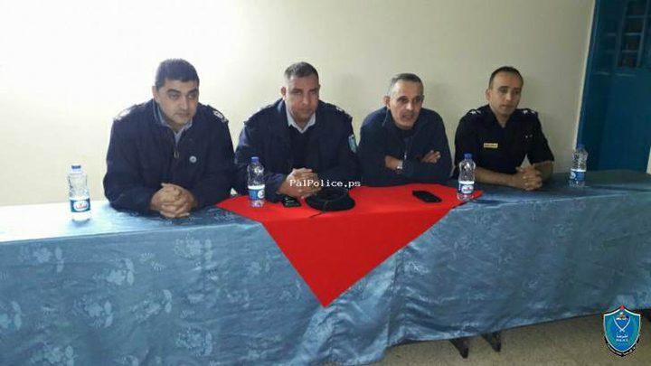 الشرطة تطلق برنامج التوعية الأمنية والشرطية لنزلاء مركز إصلاح وتأهيل نابلس