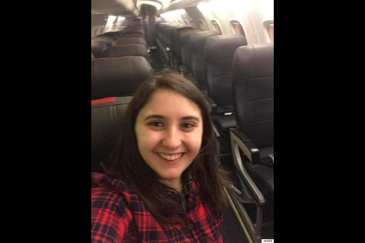 مسافرة حصلت على الطائرة بأكملها