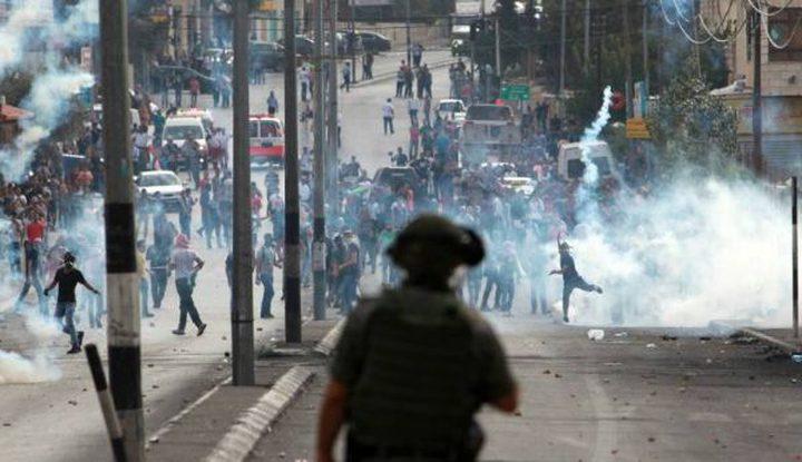 الاحتلال يقمع مسيرة منددة بإعلان ترمب
