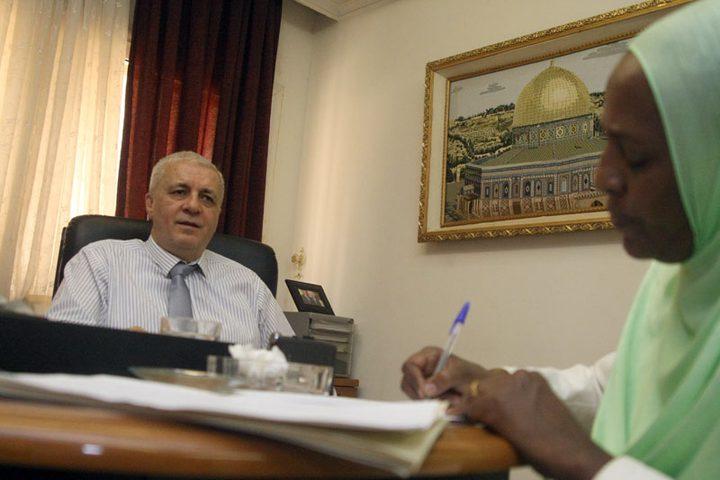 سفيرنا في السودان يبحث الأوضاع الفلسطينية مع مسؤول سوداني
