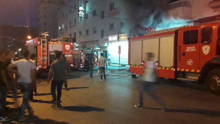 فيديو من موقع الانفجار الذي وقع في نابلس وهز أرجاء المدينة