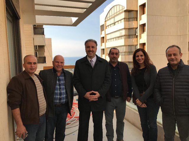 عساف يتفقد أعمال إعادة تأهيل وبناء مكتب الإذاعة والتلفزيون في بيروت