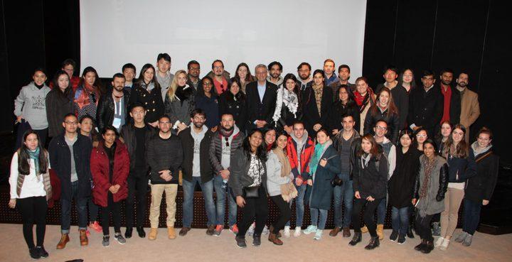 البرغوثي يشرح لطلاب جامعة كولومبيا اهداف النضال الفلسطيني