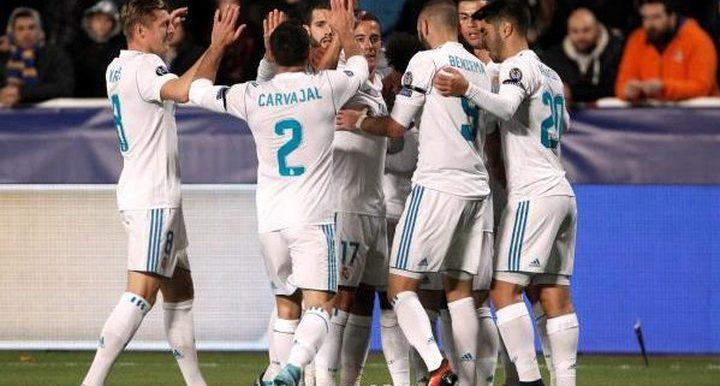 ريال مدريد يسيطر على الفريق المثالي لعام 2017