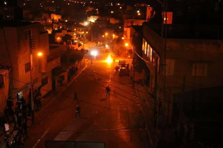 ثلاث إصابات في المواجهات مع الإحتلال شرق نابلس