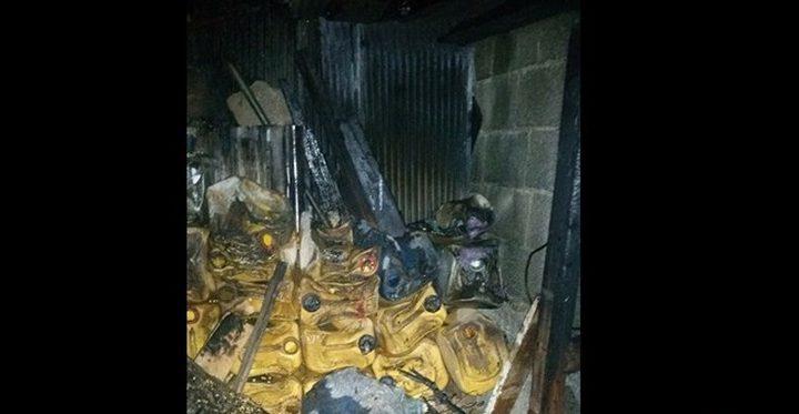 اشتعال نيران في منزل جنوب نابلس بسبب قنبلة غاز