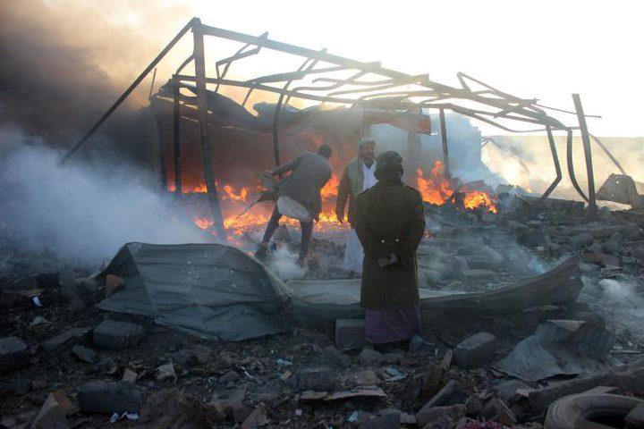 قتلى وجرحى في غارات التحالف على مواقع الحوثيين