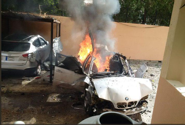 بالفيديو والصور: إنفجار يستهدف شخصية فلسطينية في لبنان