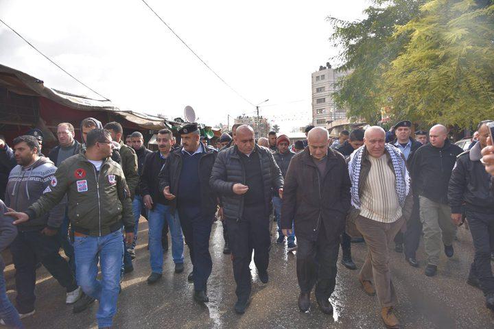نابلس: جولة تفقدية لمسؤولي المدينة لمنطقة السوق الشرقي