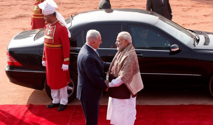 """نتنياهو محبط لرفض الهند الاعتراف بـ""""القدس عاصمة لإسرائيل"""""""
