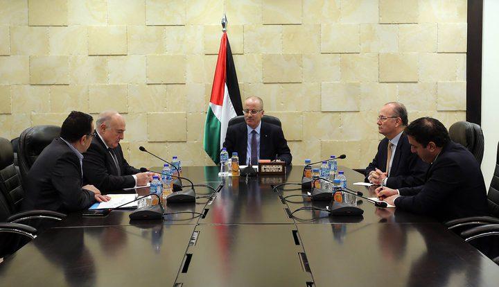 الحمد الله يترأس اجتماعا لبحث سبل تحويل محطة توليد غزة للعمل بالغاز الطبيعي