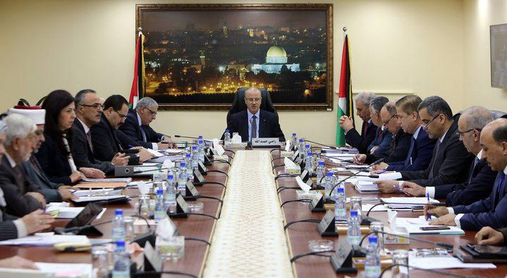 مجلس الوزراء يؤكد تأييده للرئيس ودعمه لقرارات المجلس المركزي