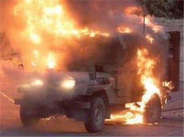 احتراق جيب لقوات الاحتلال شمال بيت لحم