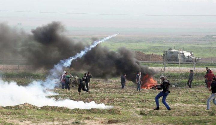 الإحتلال يُطلق النار تجاه المتظاهرين شرقي مخيم البريج وحي الشجاعية في غزة