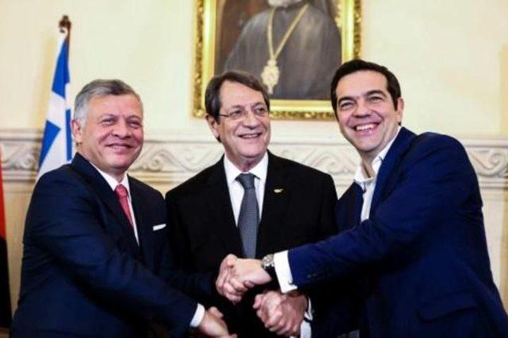 قادة اليونان والاردن وقبرص يؤكدون ضرورة تحديد وضع القدس في اطار حل شامل
