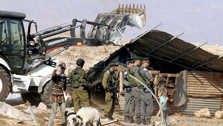 الاحتلال يهدد بطرد أهالي خربة المراجم جنوب نابلس وهدم مساكنهم