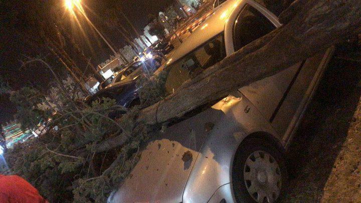 """""""بالصور"""" أضرار في مناطق مختلفة نتيجة سرعة الرياح """"محدث"""""""