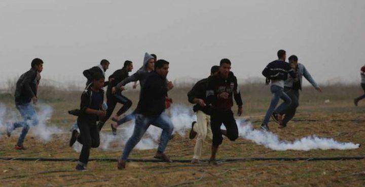 إصابة 8 مواطنين خلال المواجهات مع قوات الاحتلال في غزة