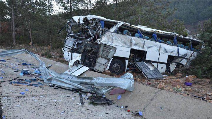 11 قتيلا و46 جريحا بحادث حافلة في تركيا