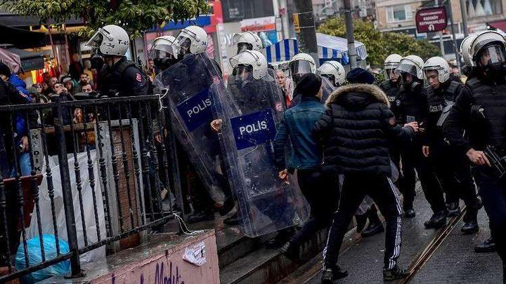 أنقرة: الشرطة التركية تفرق مظاهرة مؤيدة للأكراد