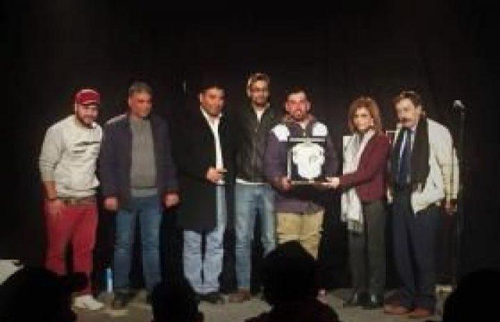 """عرض مسرحية """"هنا انا"""" في مركز بلدية نابلس الثقافي"""