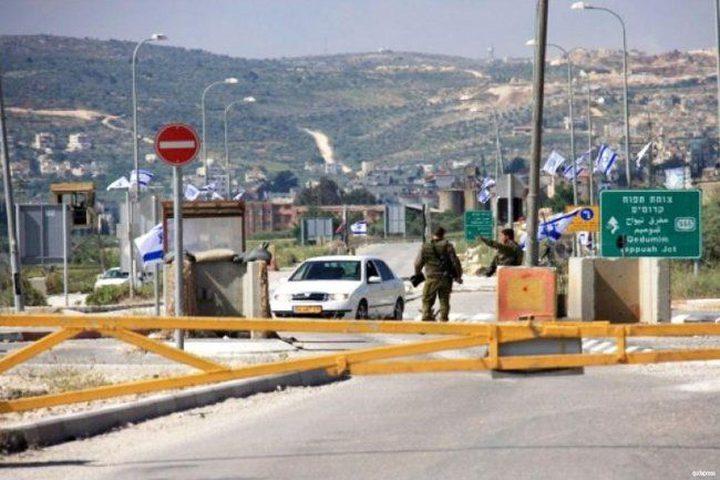 قوات الاحتلال تغلق حاجز زعترة