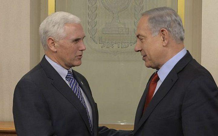 بنس يقابل نتنياهو خلال جلسة خاصة للكنيست