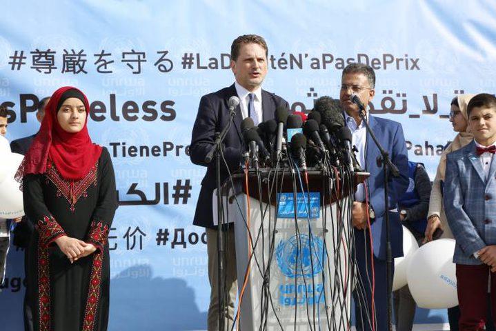 إطلاق حملة عالمية لتجنيد الدعم المالي للأونروا