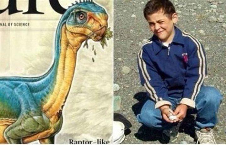 طفل يحفر اسمه في التاريخ باكتشاف بقايا ديناصور!