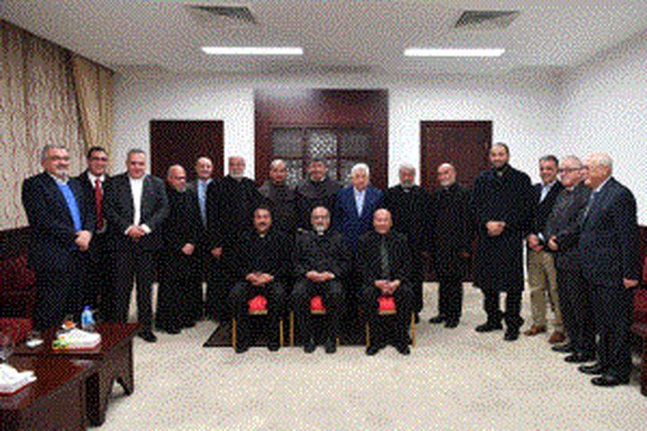رهبان الكنيسة القبطية الكاثوليكية المصرية: جئنا تلبية لنداء الرئيس نصرة للقدس