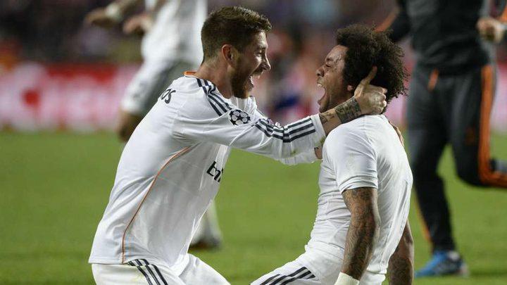 قناة تكشف ما جرى بين راموس ومارسيلو خلال مباراة ريال مدريد الأخيرة